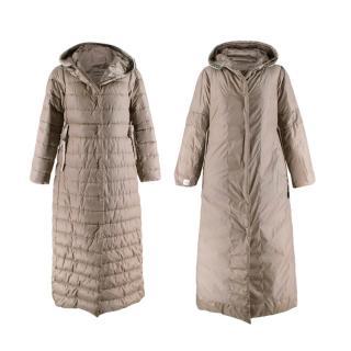 S'Max Mara Cream Reversible Hooded Down Coat