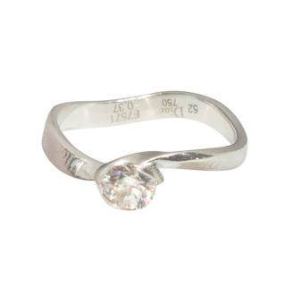 Dior 18ct White Gold Diamond Miss Dior Ring