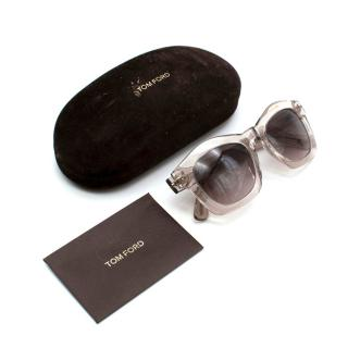 Tom Ford Clear Frame Sunglasses
