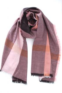 Burberry Plaid Antique Rose Wool Blend Scarf