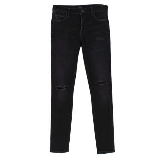 Citizens of Humanity Rocket Black Denim Distressed Jeans