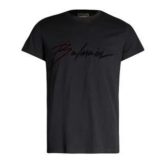 Balmain Signature Logo Print T-Shirt
