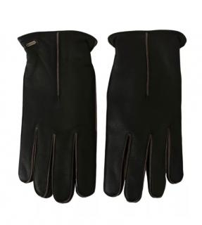 Dolce & Gabbana Mens Black Leather Gloves