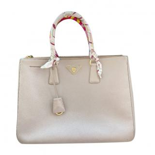 Prada Poudre Double Zip Galleria Bag