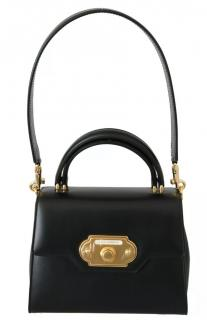 Dolce & Gabbana Black Leather Welcome Top Handle Bag