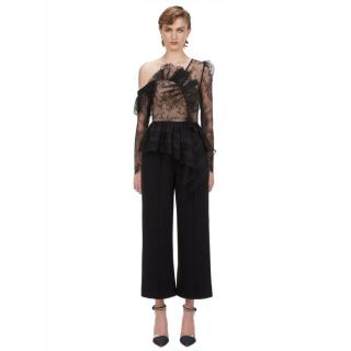 Self Portrait Fine Lace Frill Jumpsuit