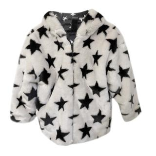 Monnalisa Faux Fur Star Girls Jacket