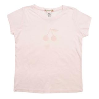 Bonpoint Pink Cotton Logo T-shirt