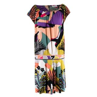 Emilio Pucci Multicolour Silk Shift Dress
