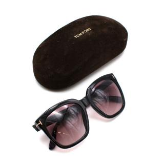 Tom Ford Black Acetate Oversized Sunglasses