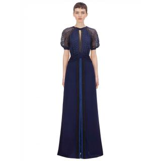 Self Portrait Geometric Lace Maxi Dress