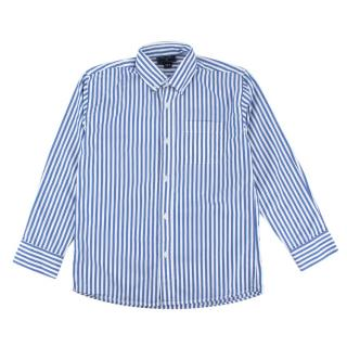 Oscar de la Renta Blue Striped Long Sleeve Shirt