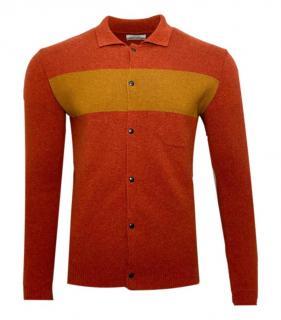 Oliver Spencer Mens Stripe Wool Cardigsn