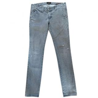 Chimala Grey Distressed Cuff Jeans
