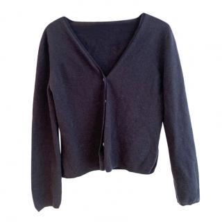 Prada Navy Wool & Cashmere Cardigan