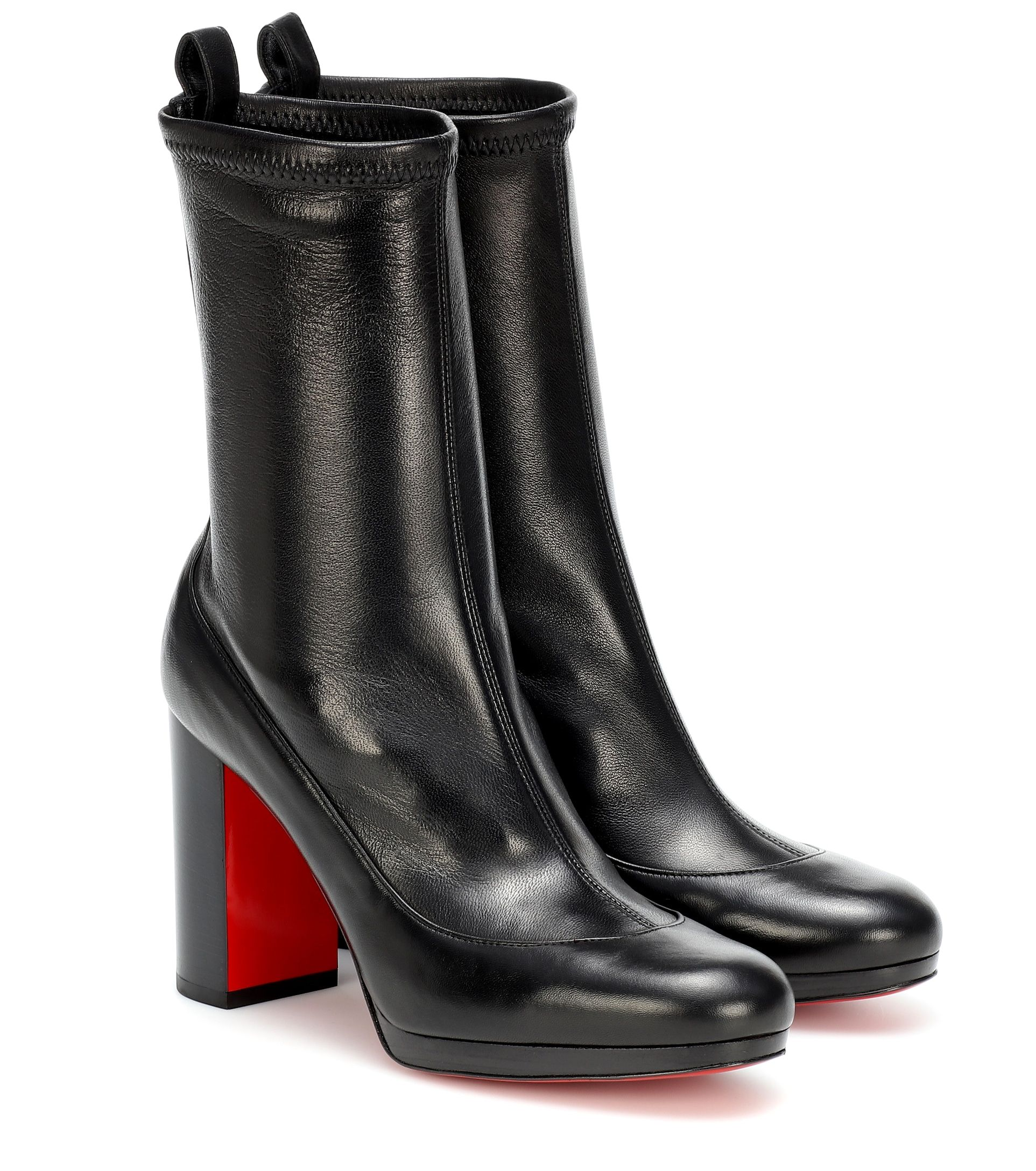Christian Louboutin Black Contrevent Sock Ankle Boots 38