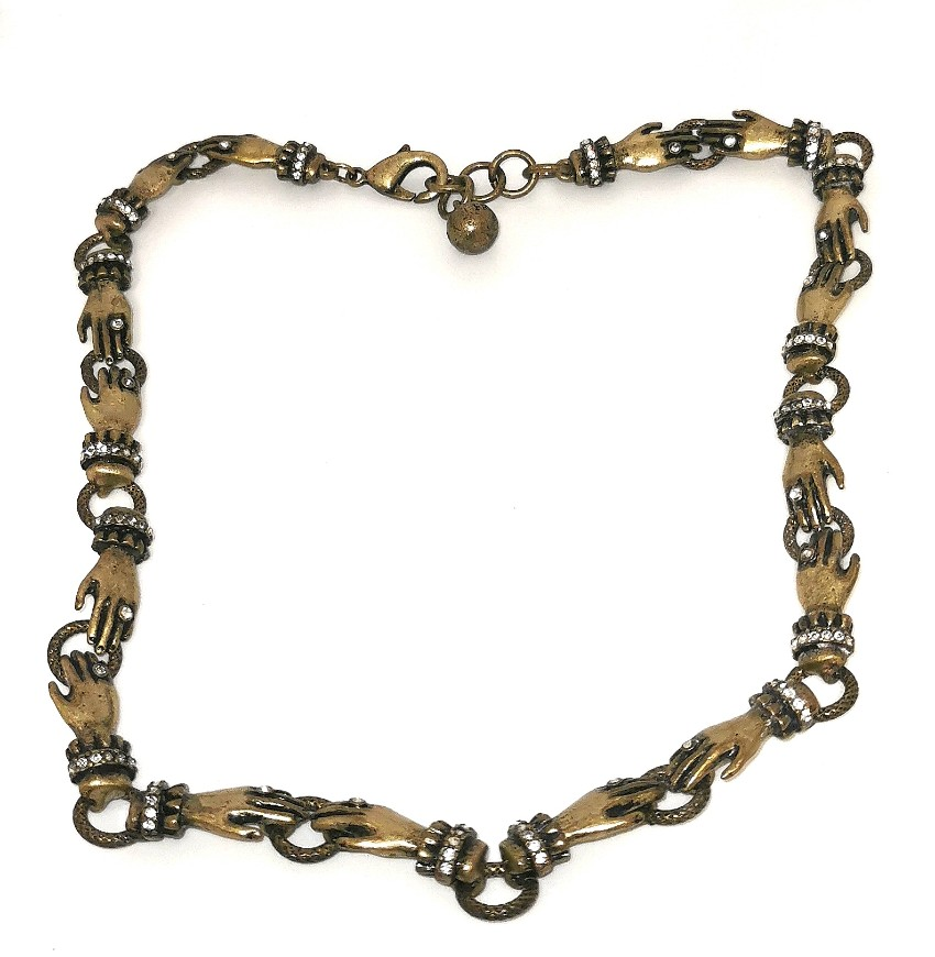 Lulu Frost Hand Link Gold Tone Necklace