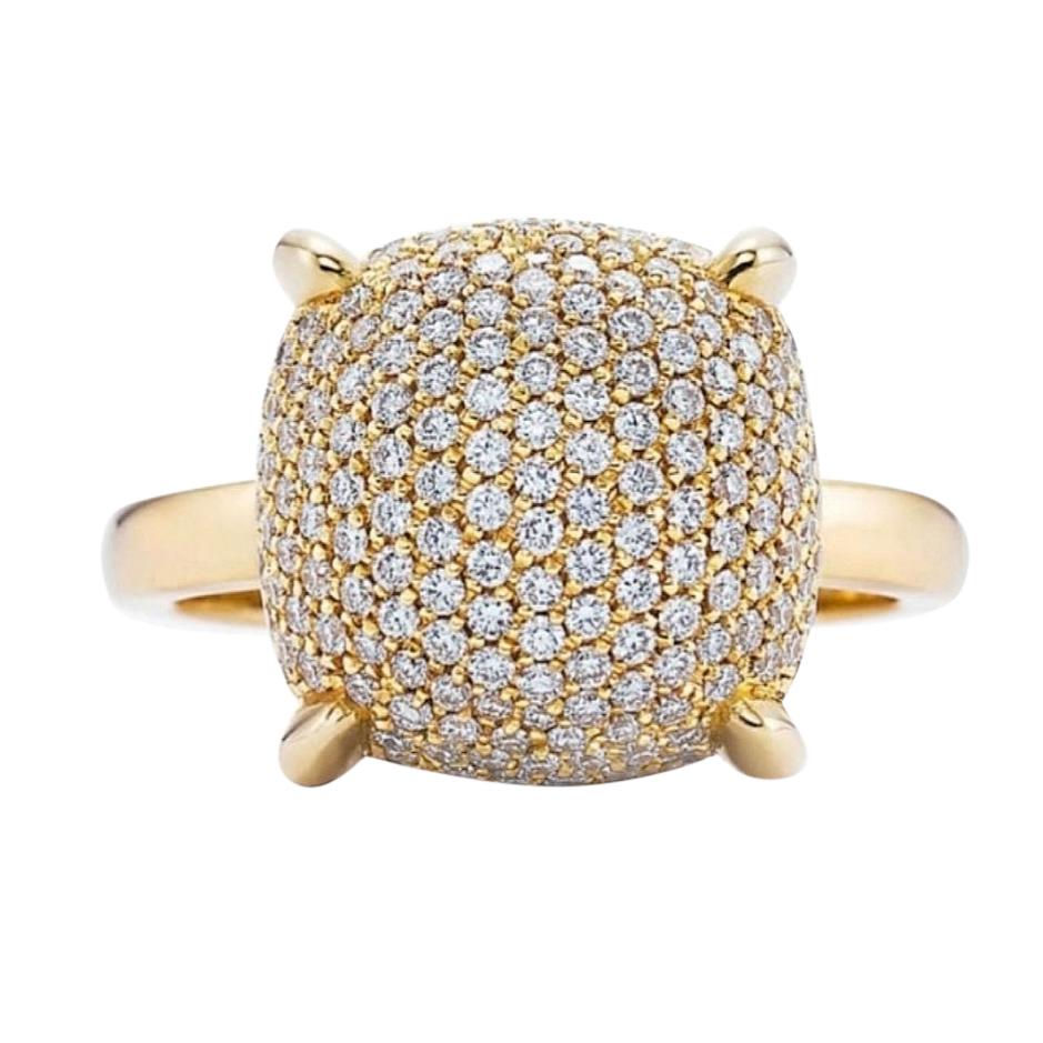 Tiffany & Co Sugar Stack Diamond Bombe Ring