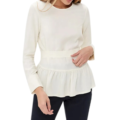 Max & Co Belted Ruffle Hem Top