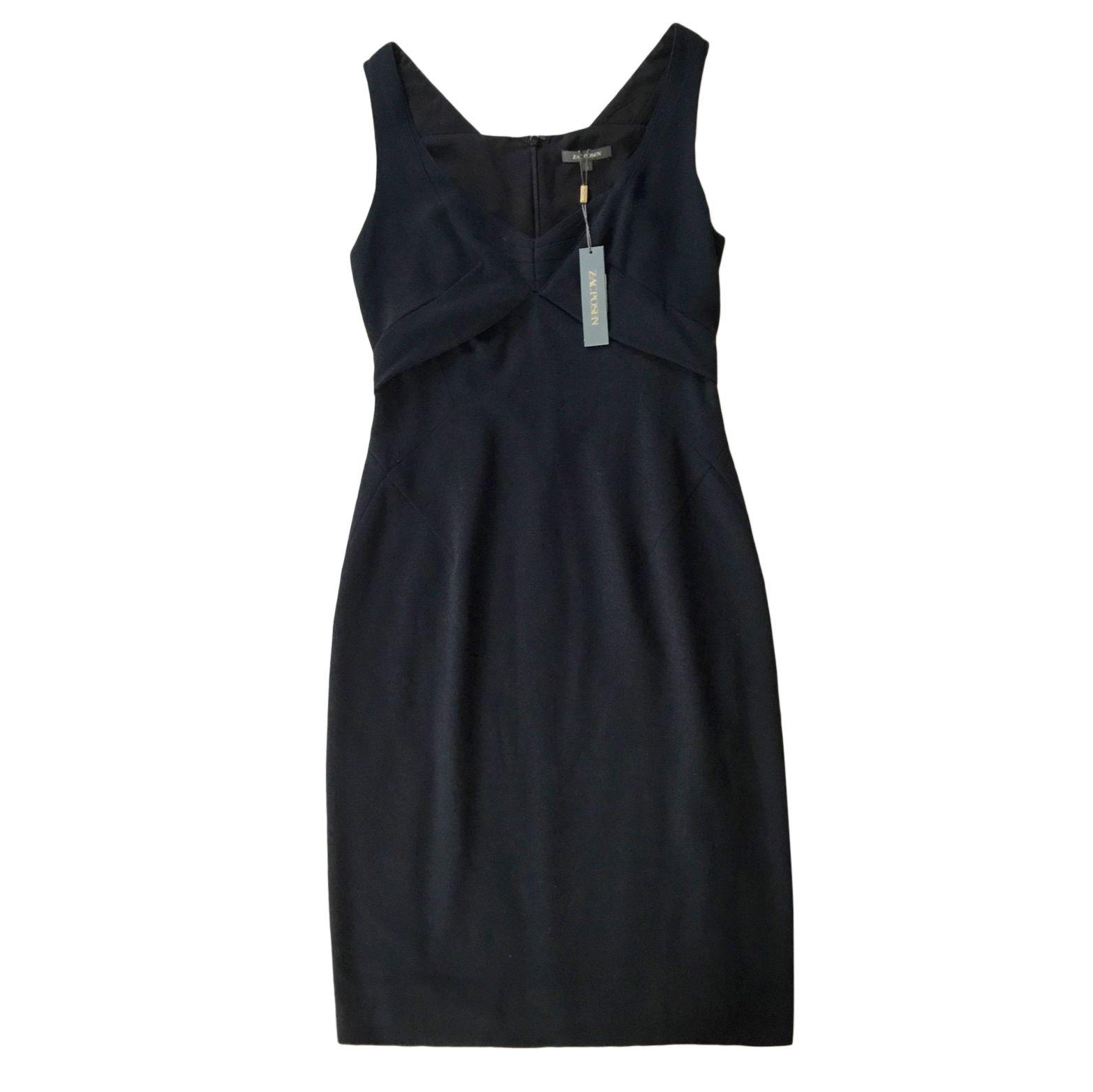 Zac Posen Black Crepe Dress