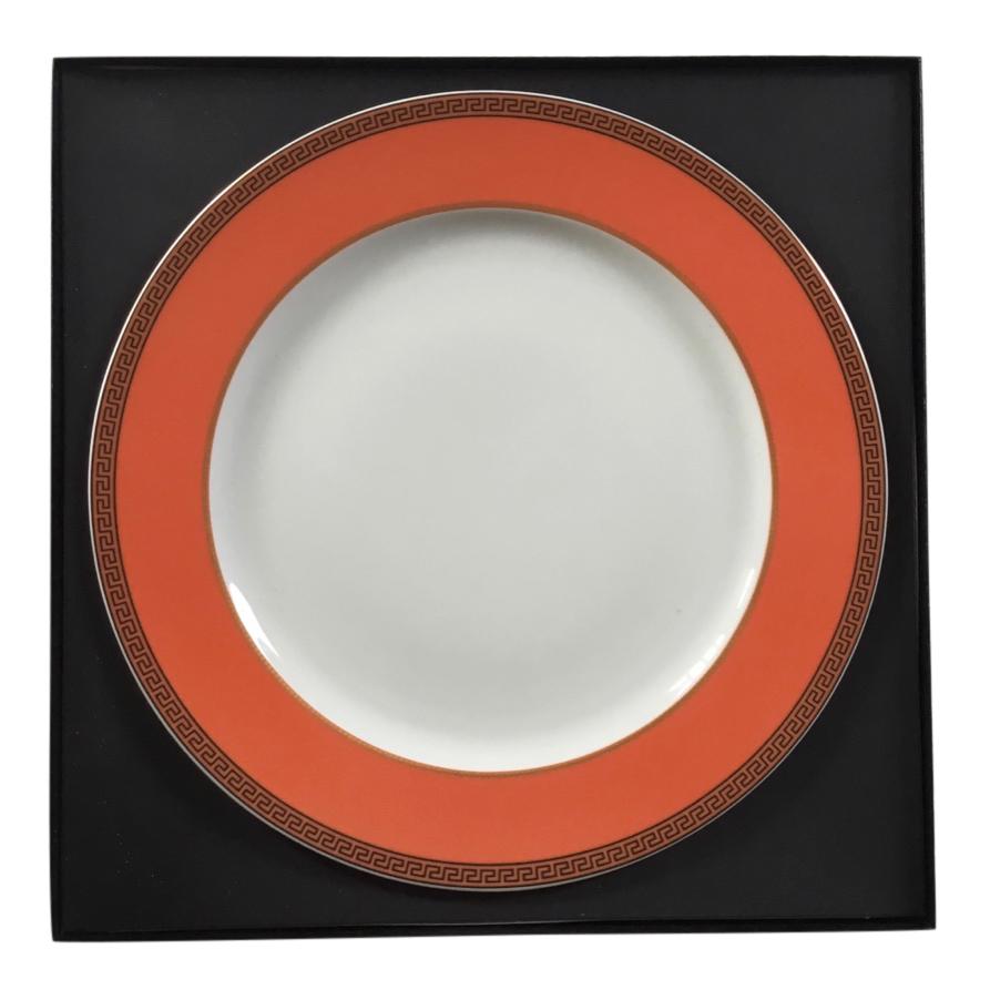Versace by Rosenthal Orange/White Ikarus Porcelain Server Plate