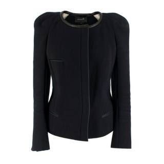 Isabel Marant Leather Trimmed Black/Green Jacket