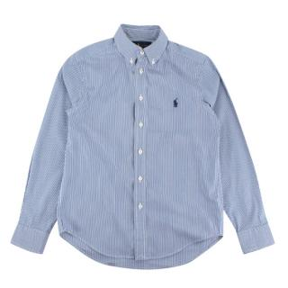 Ralph Lauren Blue Striped Long Sleeve Shirt