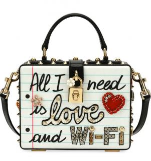Dolce & Gabbana Embellished Love & Wifi Box Bag