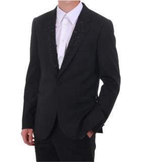 Paul Smith Mens Tailored Wool Jacket with Embellished Lapels