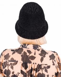 FurbySD Black Astrakhan Fur Hat