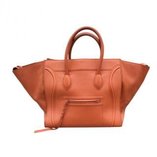 Celine Large Orange Phantom Luggage Tote