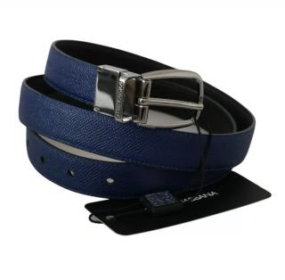 Dolce & Gabbana reversibile blue/black leather belt