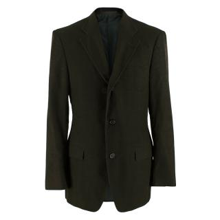 Yves Saint Laurent Green Cordurouy Blazer