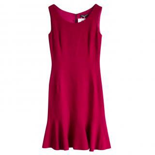 Dolce & Gabbana Raspberry Pink Lace Trim Mini Dress