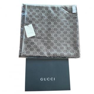 Gucci Wool & Silk Monogram Scarf