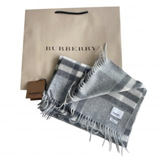 Burberry Grey Limited Edition Cashmere Scarf