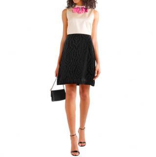 Gucci Champagne/Black Sleeveless Mini Dress