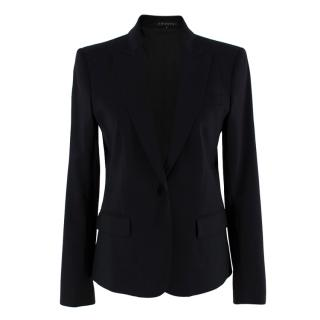Theory Black Wool Single Breasted Blazer