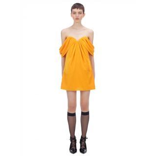 Self Portrait Off Shoulder Velvet Mini Dress