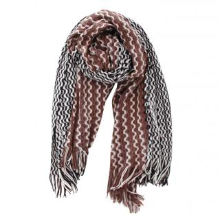 Missoni Striped Knit Wool Blend Scarf