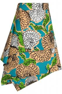 Marni asymmetric patterned skirt