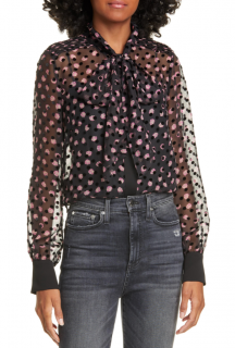 DVF Devore Minnie Pussybow Blouse