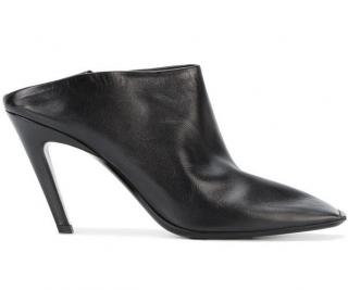 Balenciaga Black Quadro Square Toe Mules