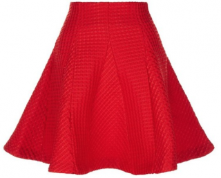 Maje Red A-Line Skater Skirt
