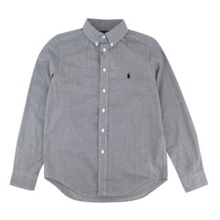 Ralph Lauren Grey Checkered Long Sleeve Shirt
