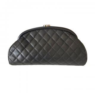 Chanel Black Caviar Calfskin Mademoiselle Clutch