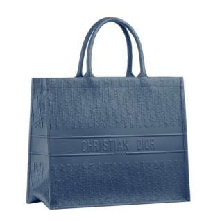 Dior Blue Monogram Oblique Leather Book Tote