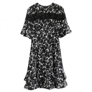 Louis Vuitton Resort Collection Black & White Lace Detailed Dress