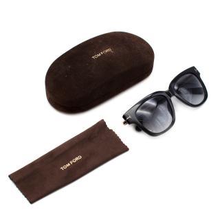 Tom Ford Black Acetate Square Frame Sunglasses