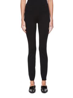The Row Black Helda Zip Detail Pants